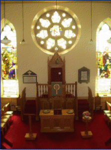 Inside Carmyllie Church